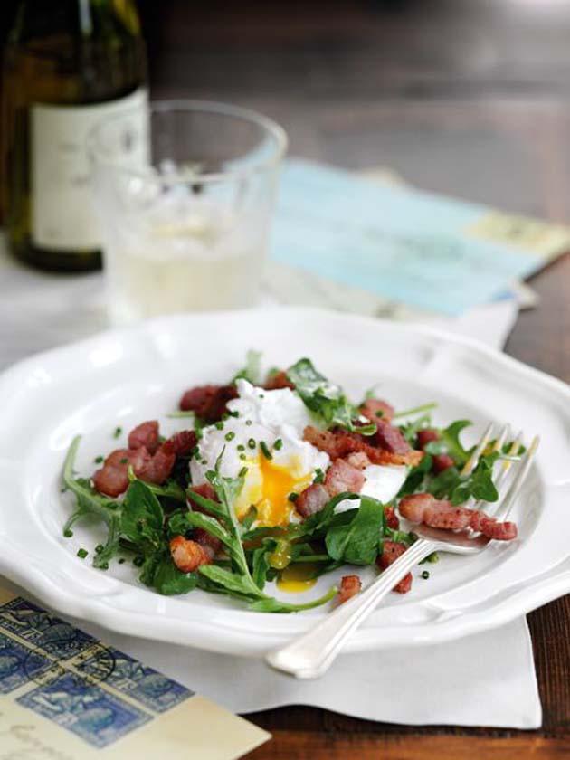 Olive-poached-egg-lardons